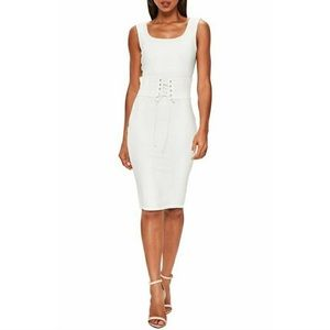 620cdf765ff4d Missguided Dresses - Missguided White Corset Belt Body-Con Dress